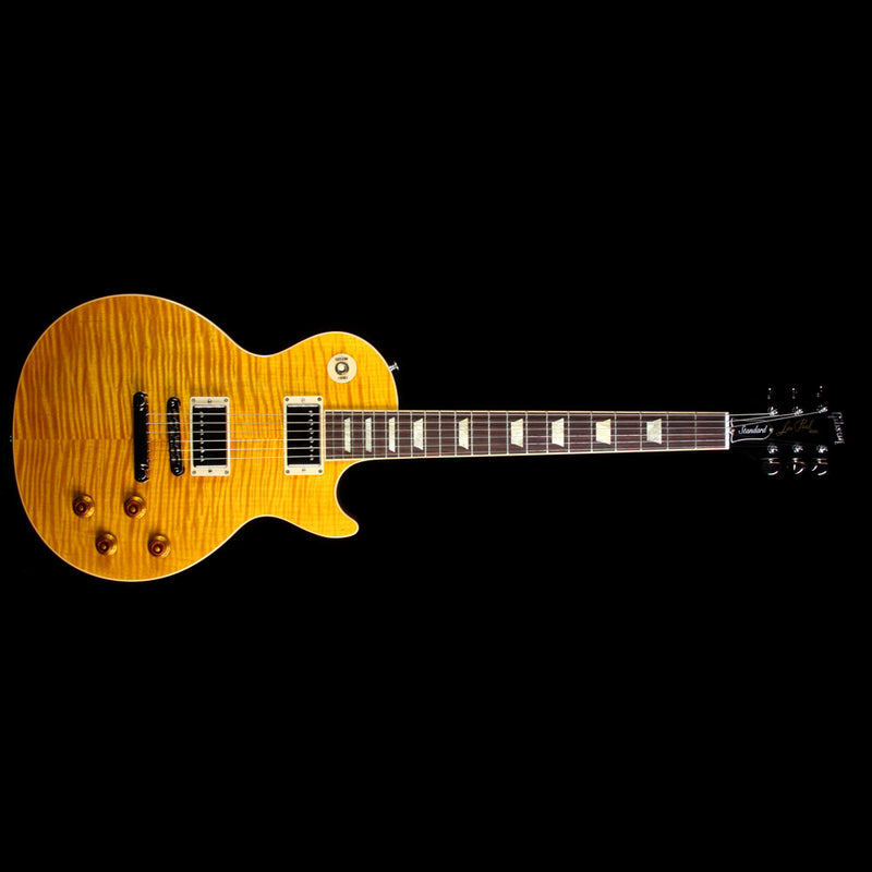 Used 2012 Gibson Les Paul Standard Plus Electric Guitar Transparent Amber