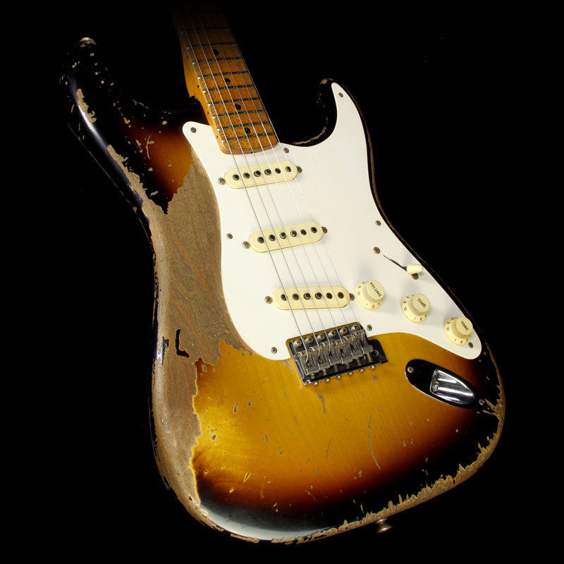 Fender Custom Shop Masterbuilt Jason Smith 1957 Roasted Alder Stratocaster Ultimate Relic Electric Guitar 2-Tone Sunburst