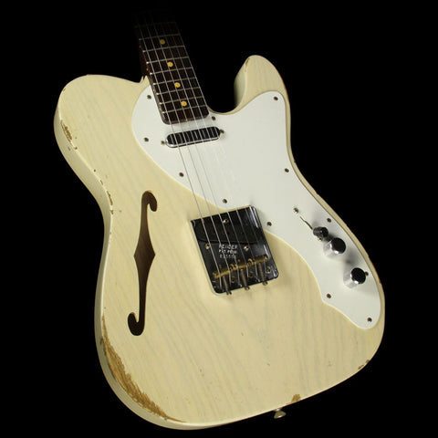 Fender Custom Shop 2016 Limited Edition '50s Thinline Telecaster Relic Electric Guitar Vintage Blonde