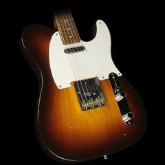 Fender Custom Shop Brazilian Rosewood Neck Telecaster Relic Electric Guitar Wide Fade Chocolate 2-Tone Sunburst