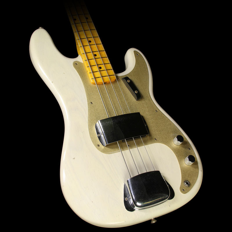 Used Fender Custom Shop 1957 Precision Bass Journeyman Relic Electric Bass Aged White Blonde