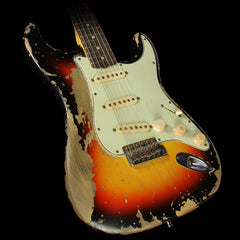 Used Fender Custom Shop Ultra Relic 1960 Stratocaster Electric Guitar 3-Tone Sunburst