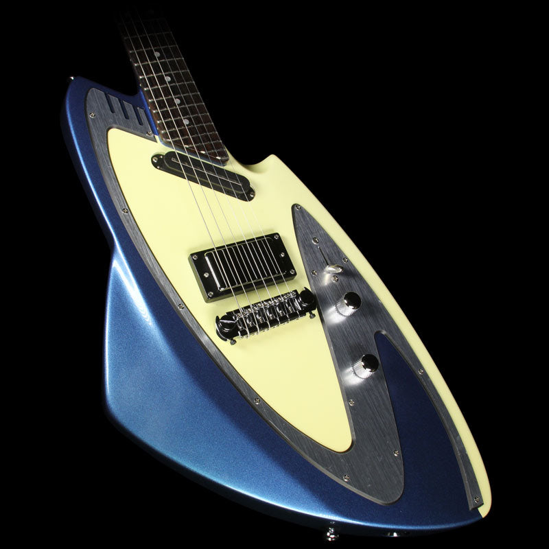 Eastwood Backlund Model 100 Electric Guitar Metallic Blue with Hardshell Case