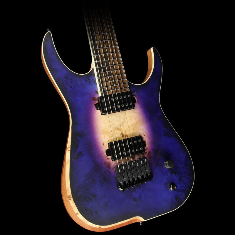 Used Skervesen Raptor 7 Electric Guitar Satin Purple Burst 32558