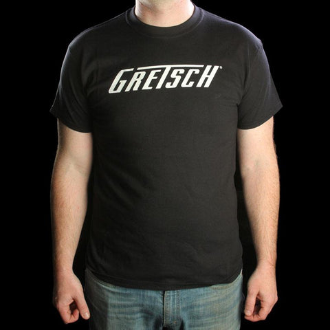 Gretsch Logo Short Sleeve T-Shirt Black/White