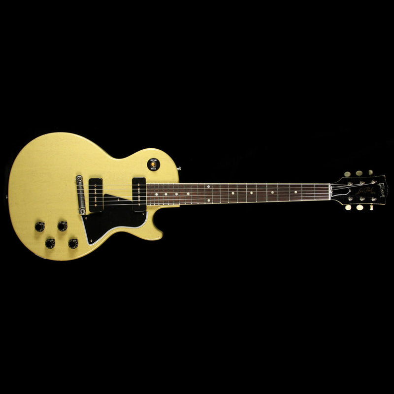 Gibson Custom Shop Music Zoo Exclusive Roasted 1960 Les Paul Special Singlecut Reissue Electric Guitar TV Yellow 7486