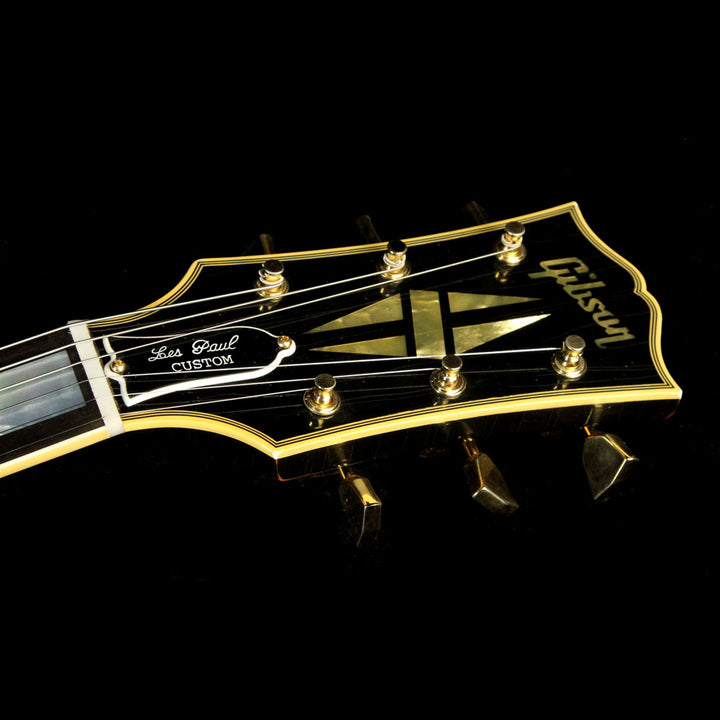 Gibson Custom Shop Music Zoo Exclusive Roasted 1957 Les Paul Custom Electric Guitar Aged Ebony 77104