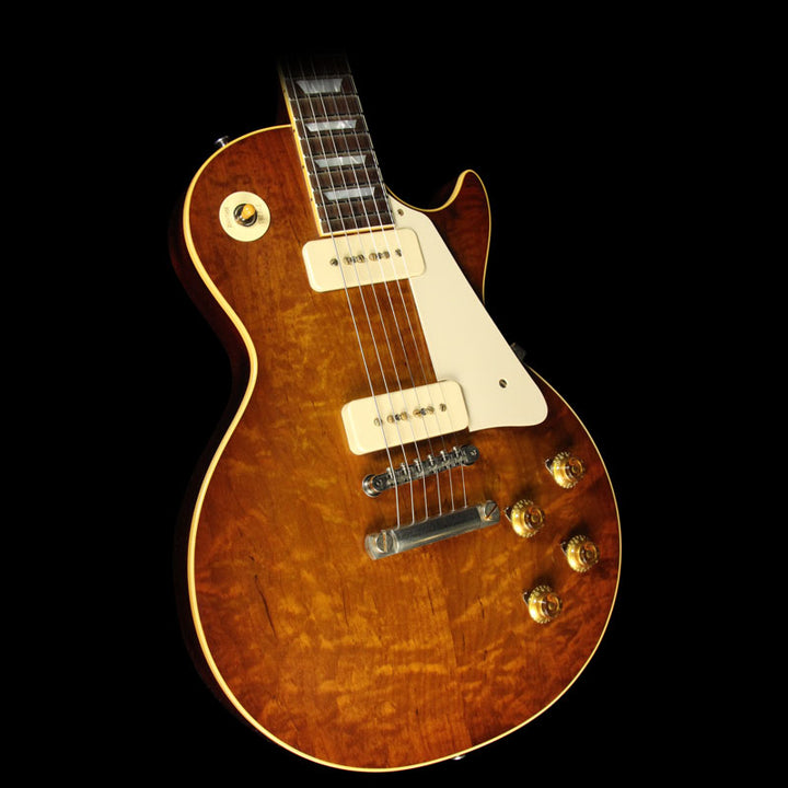 Gibson Custom Shop Music Zoo Exclusive Roasted Standard Historic 1956 Les Paul Reissue Electric Guitar Sunrise Tea Burst 67034