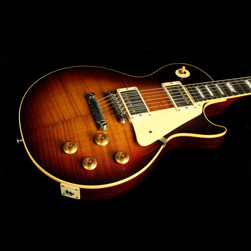 Gibson Custom Shop Music Zoo Exclusive Roasted Standard Historic 1958 Les Paul Electric Guitar Faded Tobacco 87417