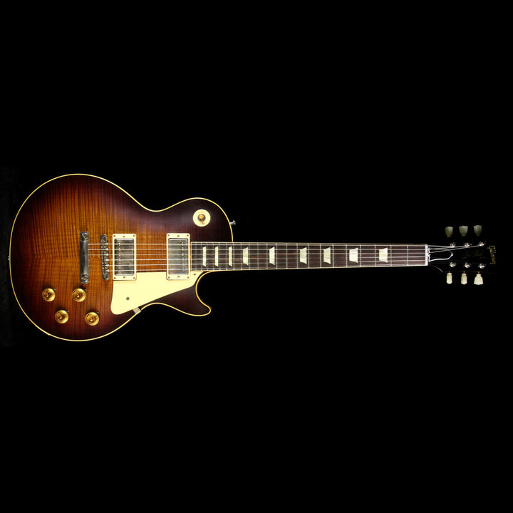 Gibson Custom Shop Music Zoo Exclusive Roasted Standard Historic 1959 Les Paul Electric Guitar Faded Tobacco 97783