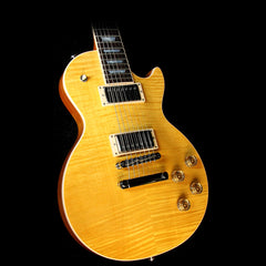 Used 2016 Gibson Les Paul Standard 7-String Electric Guitar Trans Amber