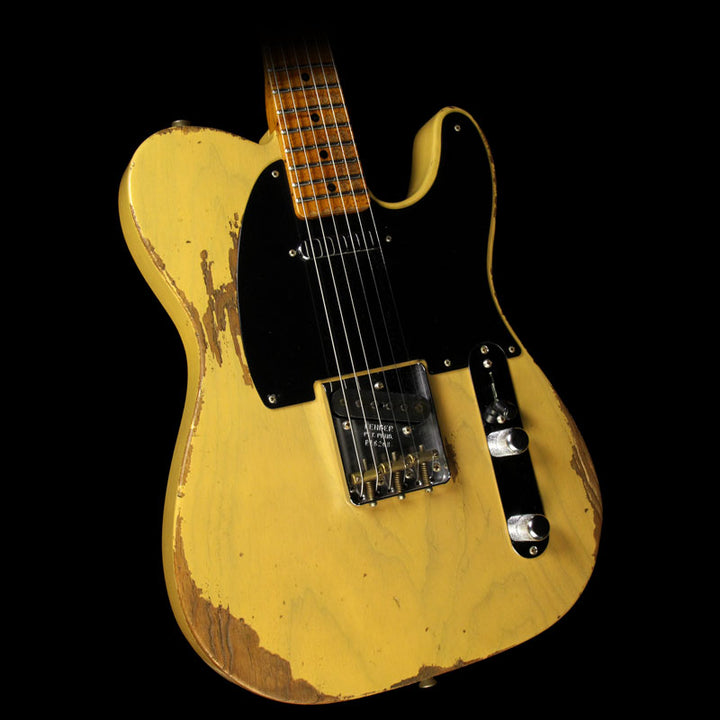 Fender Custom Shop 1953 Telecaster Roasted Ash Heavy Relic Electric Guitar Butterscotch Blonde R16268