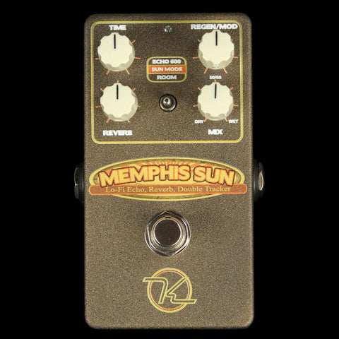 Keeley Memphis Sun Lo-Fi Reverb Echo and Double-Tracker Effect Pedal
