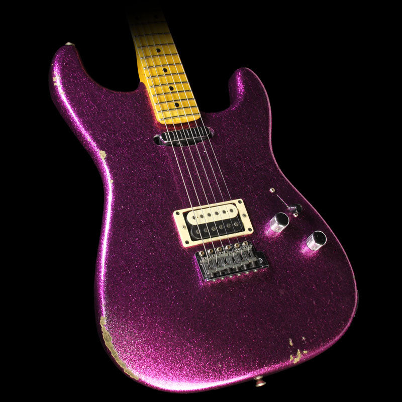 Fender Custom Shop 2016 Limited Edition Relic H/S Stratocaster Electric Guitar Aged Magenta Sparkle
