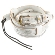 Gretsch Tooled White Leather Guitar Strap