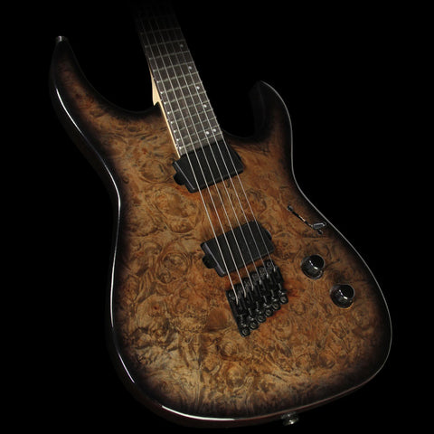Legator Ninja-200 SE Fanned Fret Electric Guitar Charcoal Burl