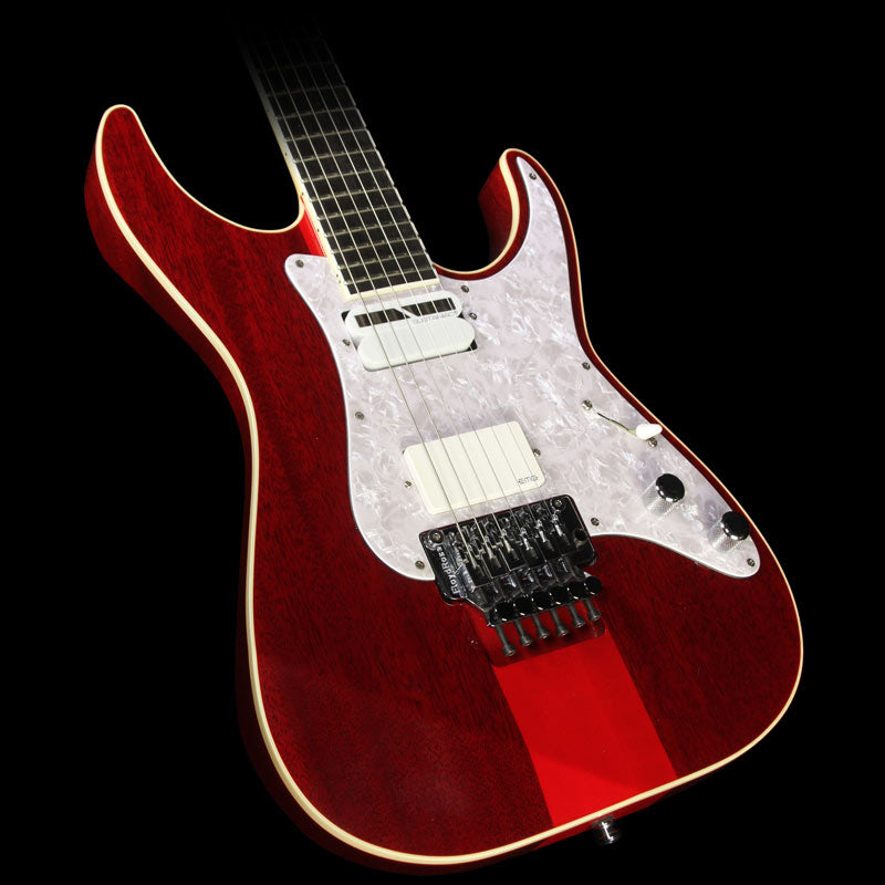 Used ESP Custom Japan M-II Electric Guitar See-Thru Red