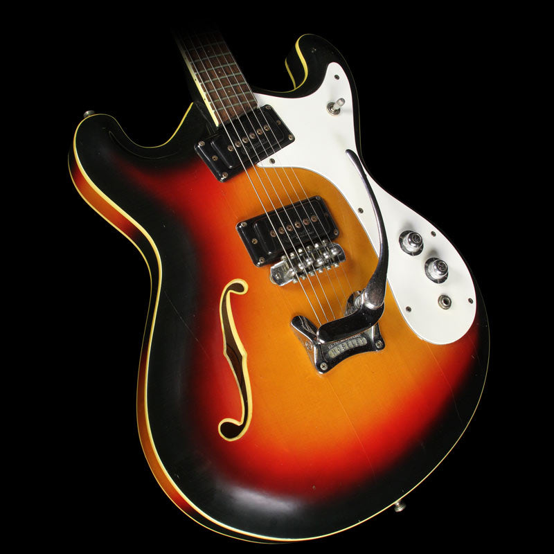 Used Mosrite Combo Semi-Hollow Electric Guitar Sunburst
