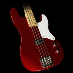 Used Fender Cabronita Precision Bass Electric Bass Guitar Candy Apple Red