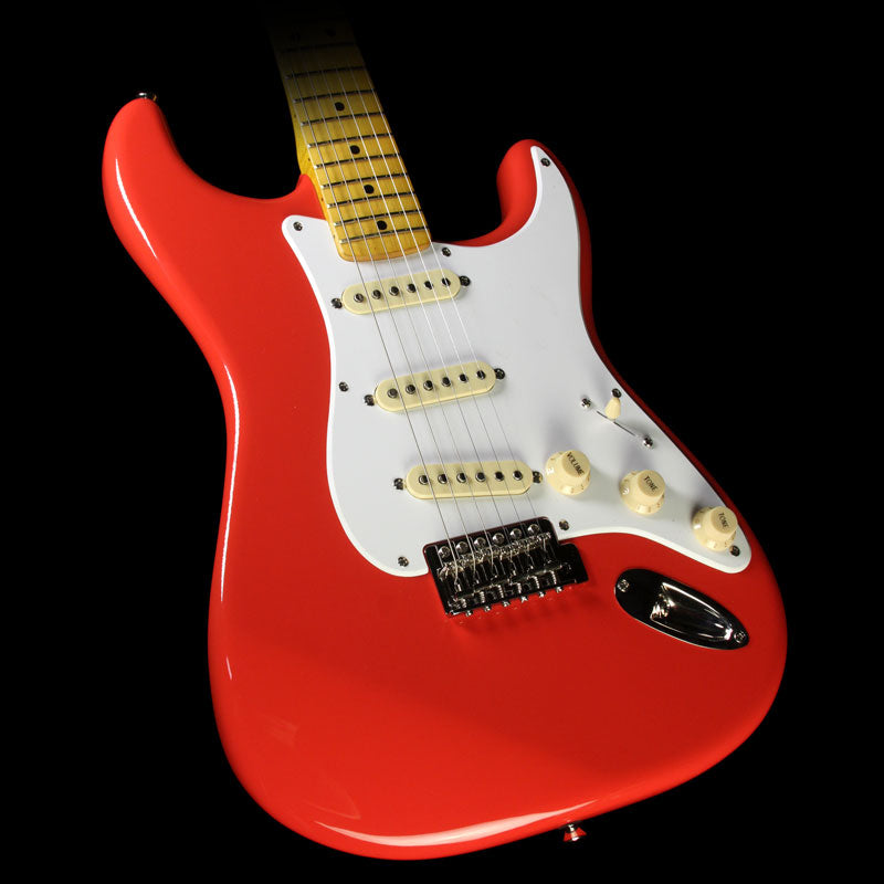 used squier classic vibe 50 39 s stratocaster electric guitar fiesta red the music zoo. Black Bedroom Furniture Sets. Home Design Ideas