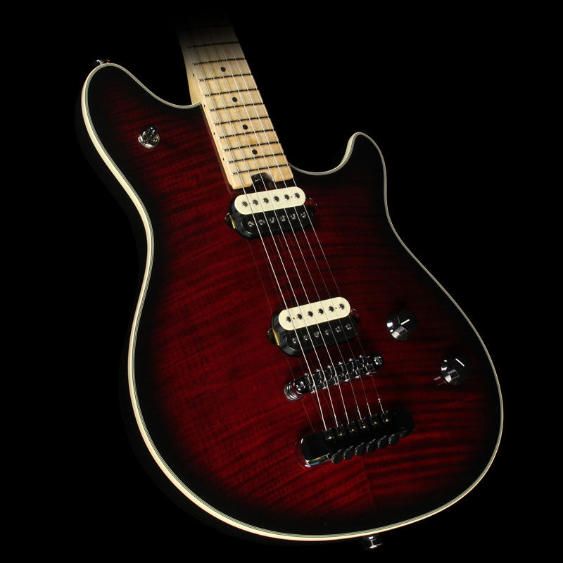 Used EVH USA Wolfgang Hardtail 5A Flame Top Electric Guitar Transparent Cherry