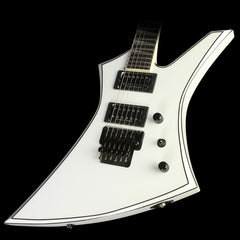 Jackson USA Select KE2 Kelly Electric Guitar Snow White with Black Pinstripes