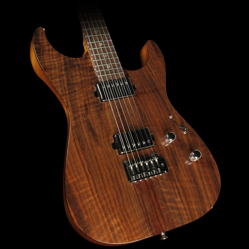Lipe Virtuoso Curly Walnut Electric Guitar Natural