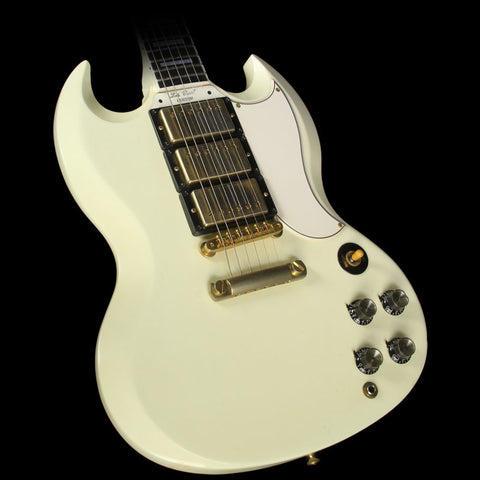 Used Gibson Custom Shop SG Custom 3-Pickup Electric Guitar Classic White