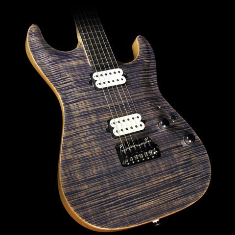 Used 2012 Suhr Standard Carve Top Electric Guitar Faded Trans Blue Denim Slate