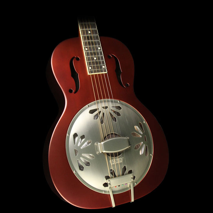 Gretsch Guitars Limited Edition Roots Series G9202 Honey Dipper Special Resonator Acoustic Guitar Oxblood 2717010515