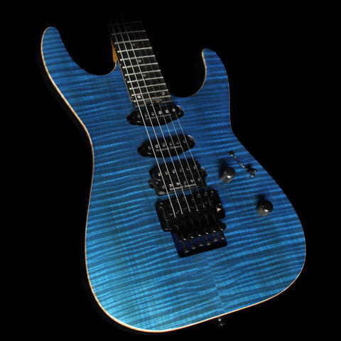 Used 2016 ESP USA M-III Electric Guitar See-Thru Blue