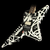 Used EVH Stripe Series Star Electric Guitar Black and White Stripes