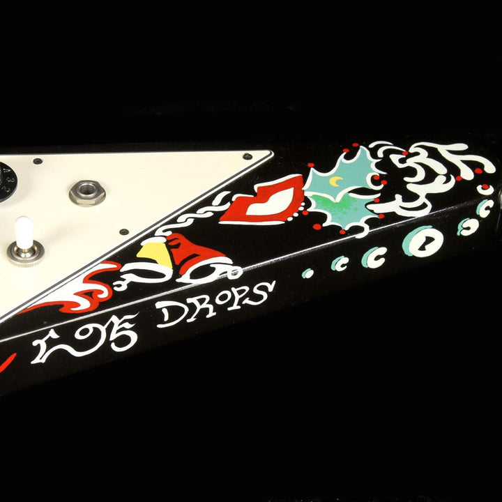 Used 2006 Gibson Custom Shop Jimi Hendrix Psychedelic Flying V Hand Painted Electric Guitar JIMI 018