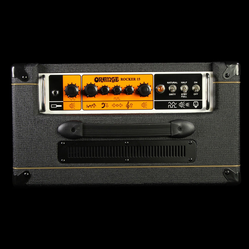 Used Orange Amplifiers Rocker 15 Electric Guitar Combo Amplifier Black ROCKER-15-BLK