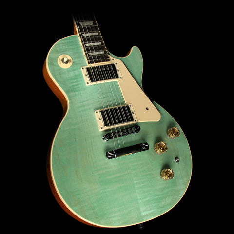 Used 2014 Gibson Les Paul Classic Electric Guitar Seafoam Green