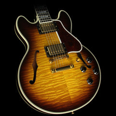 Used 2007 Gibson Custom Shop CS-356 Flame Top Electric Guitar Vintage Sunburst