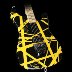 Used 2012 Charvel EVH Art Series Electric Guitar Black & Yellow