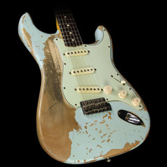 Used 2011 Fender Custom Shop Jason Smith Masterbuilt Ultimate Relic 1960 Stratocaster Electric Guitar Sonic Blue