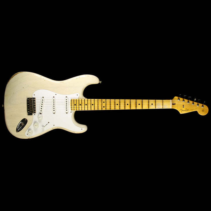 Used Fender Custom Shop Eric Clapton Stratocaster Journeyman Relic Electric Guitar Aged White Blonde CZ531346