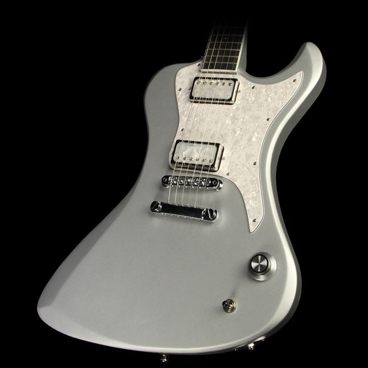 Dunable R2 Electric Guitar Satin Silver with Pearloid Pickguard 1694