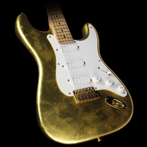 Used 2003 Fender Custom Shop Mark Kendrick Master Built Clapton Stratocaster Electric Guitar Gold Leaf