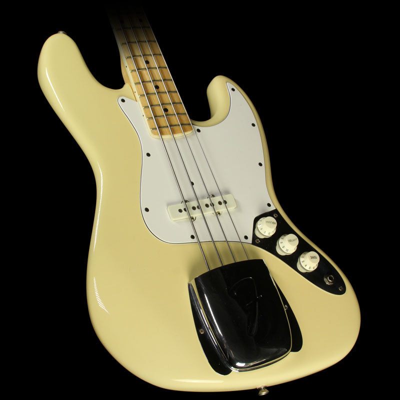 Used 1983 Fender Electric Jazz Bass Guitar Olympic White