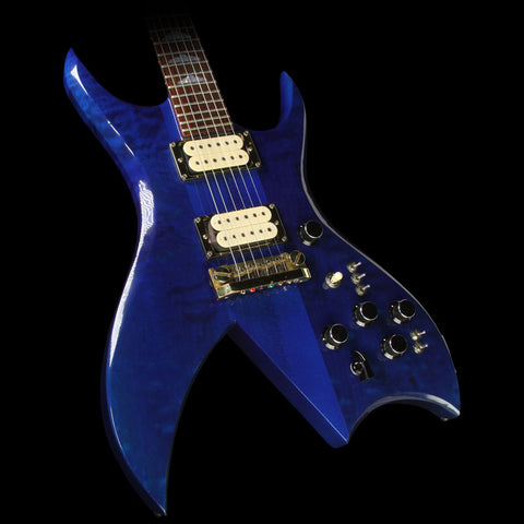Used 1982 B.C. Rich Bich Electric Guitar Trans Blue