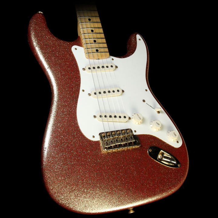 Fender Custom Shop 1957 Stratocaster Heavy Relic Gold Sparkle over Red Base R88386