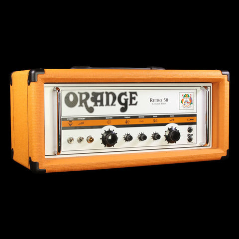 Used Orange Custom Shop Retro 50 Handwired Guitar Amplifier Head