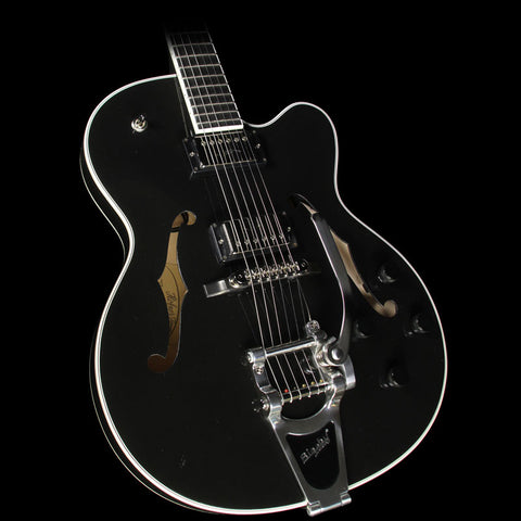 Used Hofner Thin President Semi-Hollow Electric Guitar Black