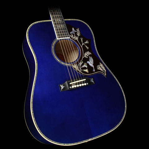 Gibson Montana Hummingbird Limited Edition Hummingbird Quilt Acoustic-Electric Guitar Viper Blue