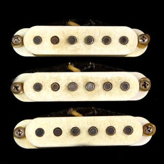 Bare Knuckle Apache Single Coil Pickup Set Aged Parchment Vintage Stagger