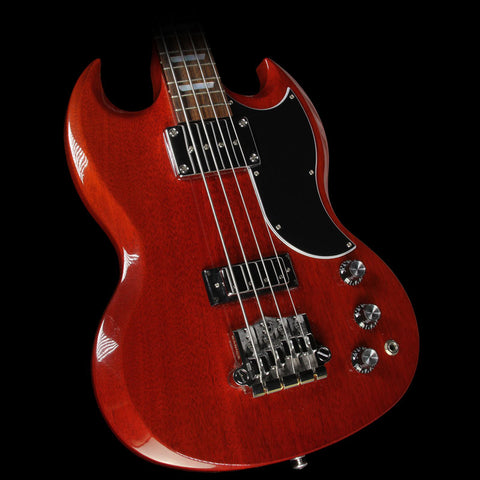 Used 2015 Gibson SG Standard Electric Bass Guitar Heritage Cherry