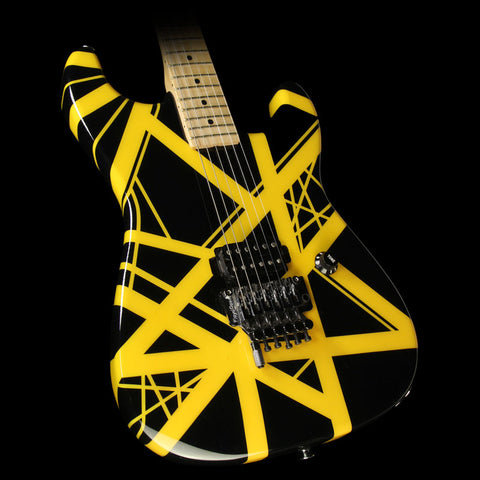Used 2006 Charvel EVH Art Series Electric Guitar Black and Yellow